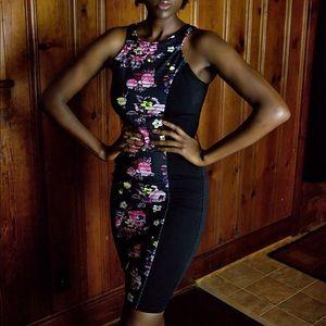 Material Girl Floral Midi Dress
